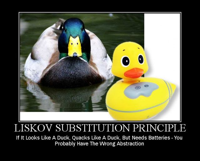 Liskov substitution principle duck example